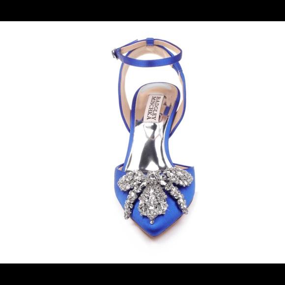 Badgley Mischka Shoes - Badgley mischka size 8, blue wedding shoes